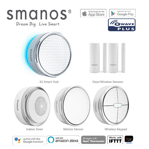 Smanos K2 (Z-Wave) Wireless SmartHome DIY Security Alarm