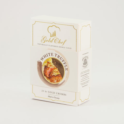 Manetti Flavoured Edible Gold Crumbs - White Truffle - from Italy.