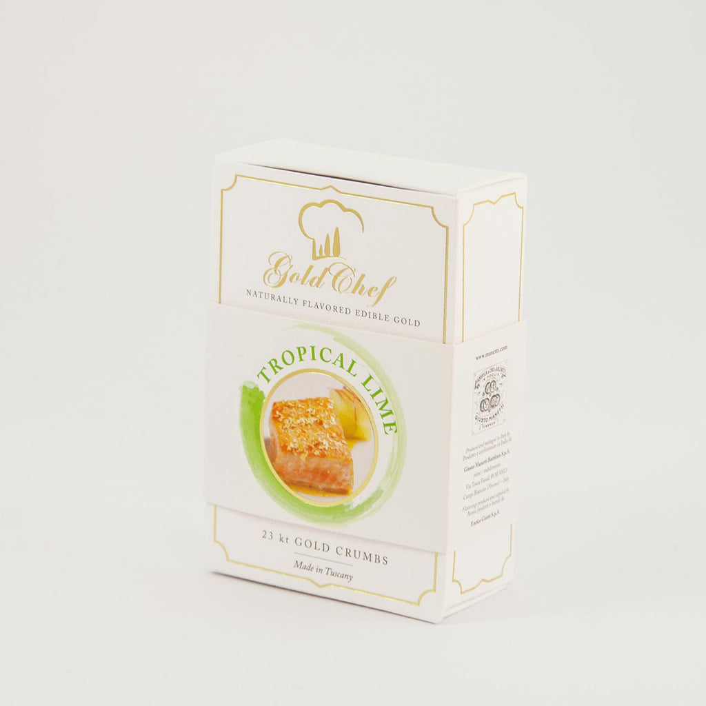 Manetti Gold Chef Favoured Edible Gold Crumbs - Tropical Lime - from Italy.