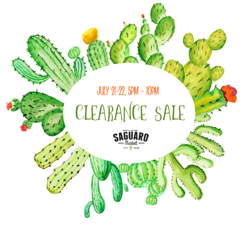 Summer Clearance Event - July 21-22, 5-10 pm