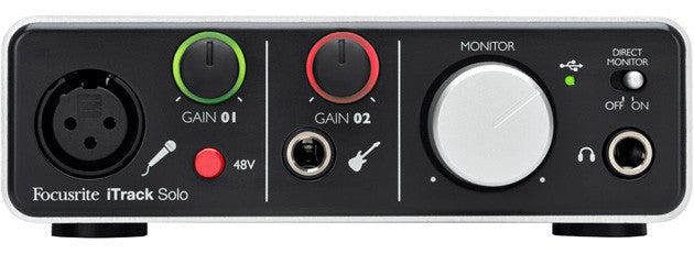 Focusrite iTrack Solo - Lightning - Sinamex Recording Store
