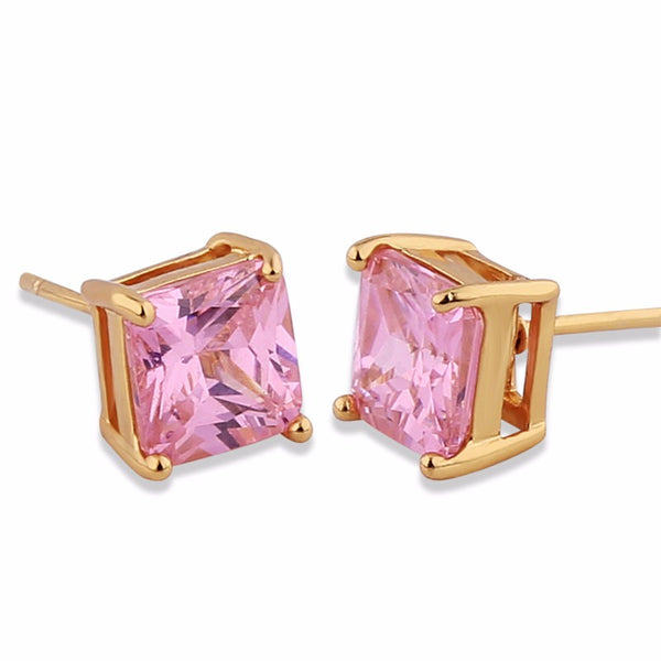 High Quality Jewelry Earrings Gold-Color Stud Earing Cubic Zirconia Earings