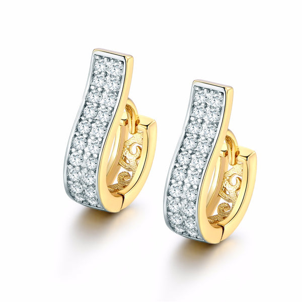 High Quality Crystals Zircon Earring Brinco