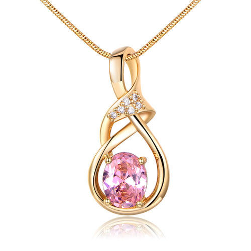 Necklaces & Pendants Silver/Gold-Color CZ Necklace