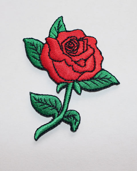 Red rose embroidered patch kazzy s closet