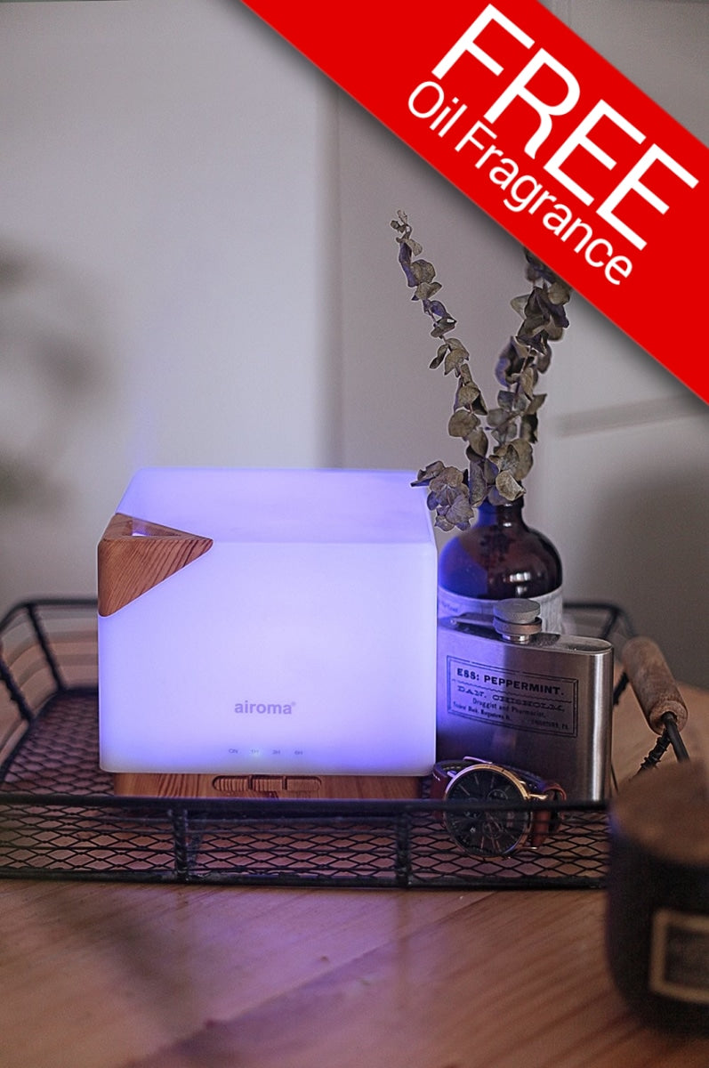 Aman Humidifier (With Free 1 Essential Oil 100Ml) Air Purifier + Bundle