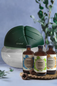 Buy 3 Airoma Essential Oils In 250Ml Get 1 Free Big Air Freshener Machine Dark Green Purifier + Oil