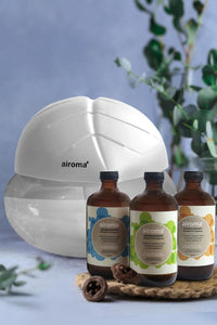 Buy 3 Airoma Essential Oils In 250Ml Get 1 Free Big Air Freshener Machine White Purifier + Oil