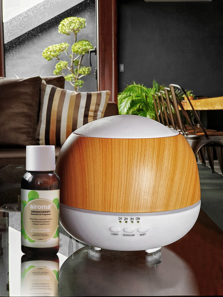Kinzi Humidifier (With Free 1 Essential Oil 100Ml) Minty - Eucalyptus