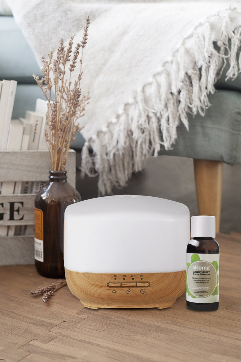 Yazi Humidifier (With Free 1 Essential Oil 100Ml) Minty - Eucalyptus Air Purifier + Bundle