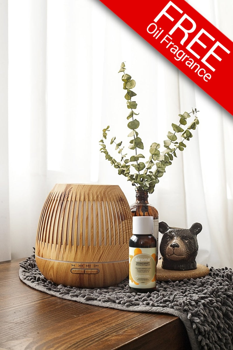 Zeene Humidifier (With Free 1 Essential Oil 100Ml) Office - Bamboo Fresh Air Purifier + Bundle