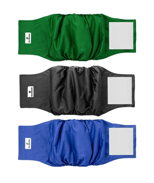 Washable Dog Belly Bands (3pack) of Premium Male Dog Wraps