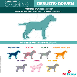 USA Calming Treats for Dogs | Calming Chews for Dogs with Suntheanine® | 4g 90Count Soft Chews