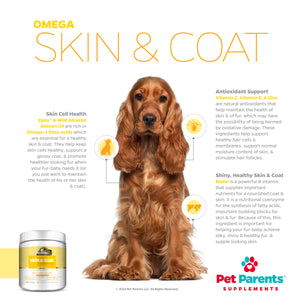 USA OMEGA 3 FOR DOGS 4G 90C - DOG SKIN & COAT SUPPORT - FUR VITAMINS + EPAX FISH OIL FOR DOGS, EPA & DOG DHA, SALMON OIL FOR DOGS, FISH DOG TREATS & OMEGA DOG TREATS