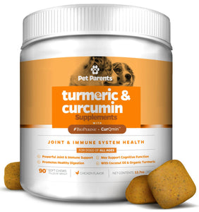 USA TURMERIC FOR DOGS 4G 90C – K9 JOINT, DOG JOINT & DOG IMMUNE SUPPORT, DOG JOINT HEALTH + TURMERIC, CURCUMIN, & BIOPERINE + DOG JOINT SUPPLEMENT