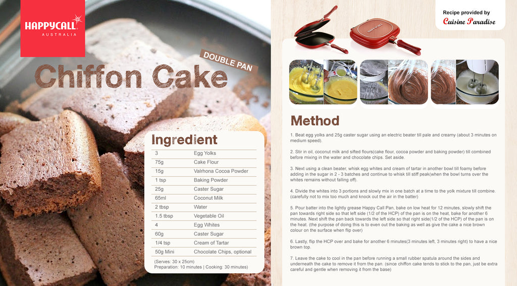 Happycall Double Pan Chiffon Cake