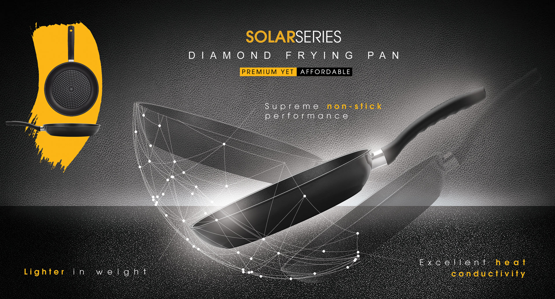 Solar Diamond Frying Pan / Wok