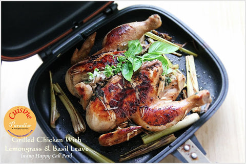 Happycall Double Pan | Grilled Chicken with Lemongrass & Basil Leaves