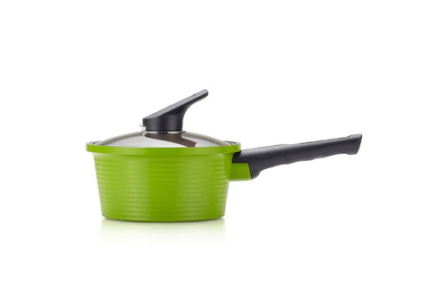 Happycall IH Alumite Ceramic Pot - 18cm Green Single Handle (1.8L)