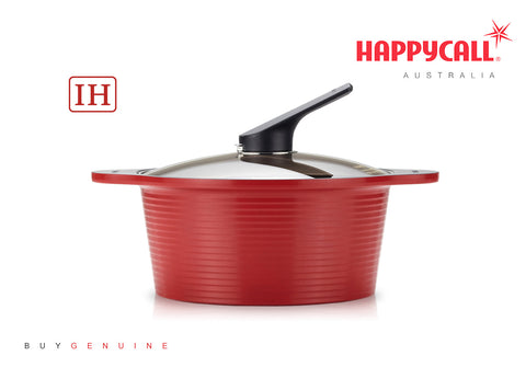 Happycall IH Alumite Ceramic Pot - 24cm Red (4L)