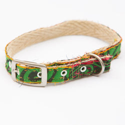 Green Fields Sari Dog Collar