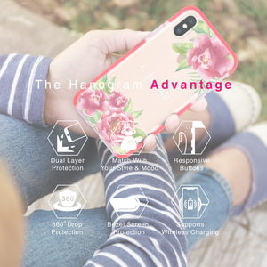 Pink Watercolor Floral Shockproof Bumper Case
