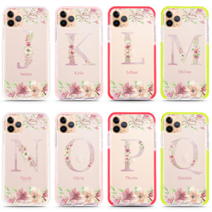 Monogram & Floral iPhone 11 Pro Max Frosted Bumper Case