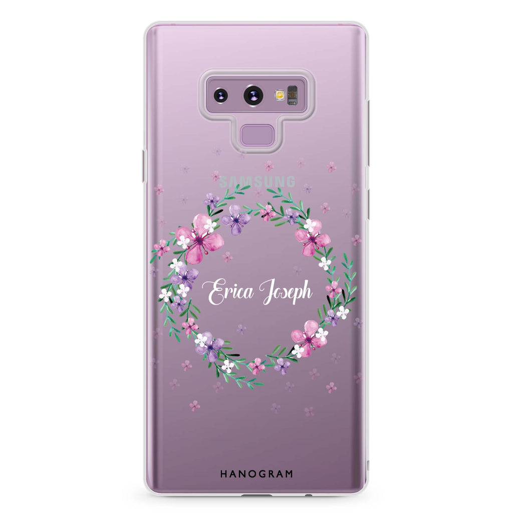 Floral Ring II Samsung Note 9 Soft Clear Case