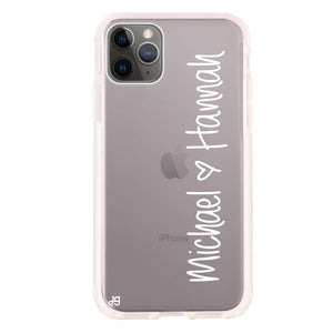 Vertical Names Shockproof Bumper Case