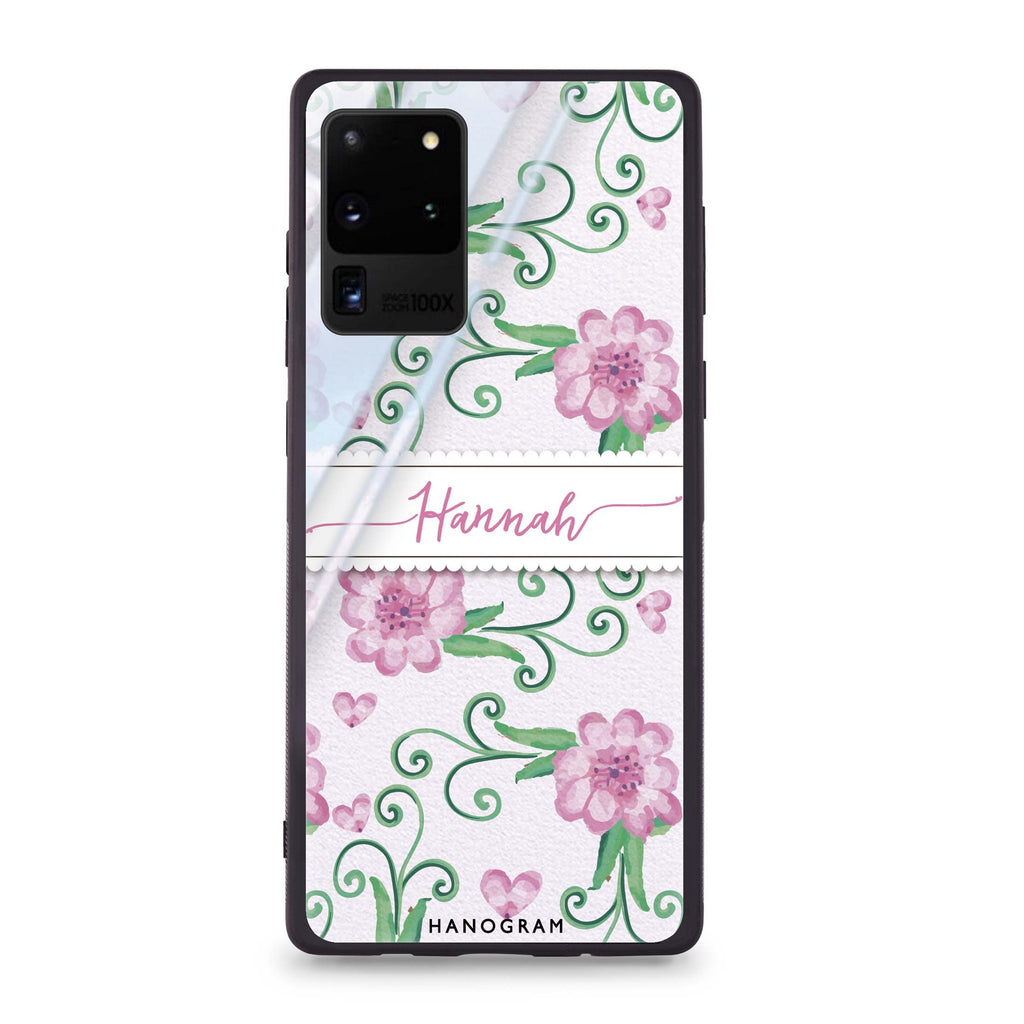 The Dancing Flower Samsung Glass Case