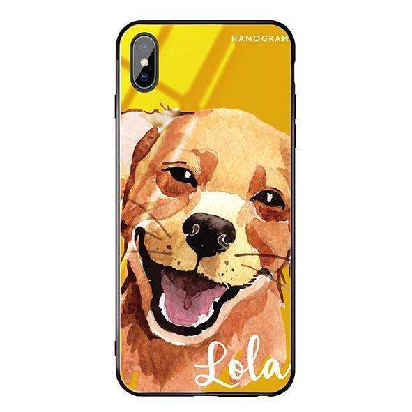 Golden Retriever Mango Mojito Glass Case