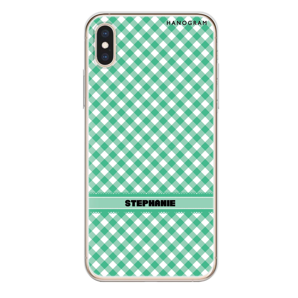Lovely Green iPhone XS Soft Clear Case