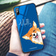 Welsh Corgi Princess Blue Glass Case