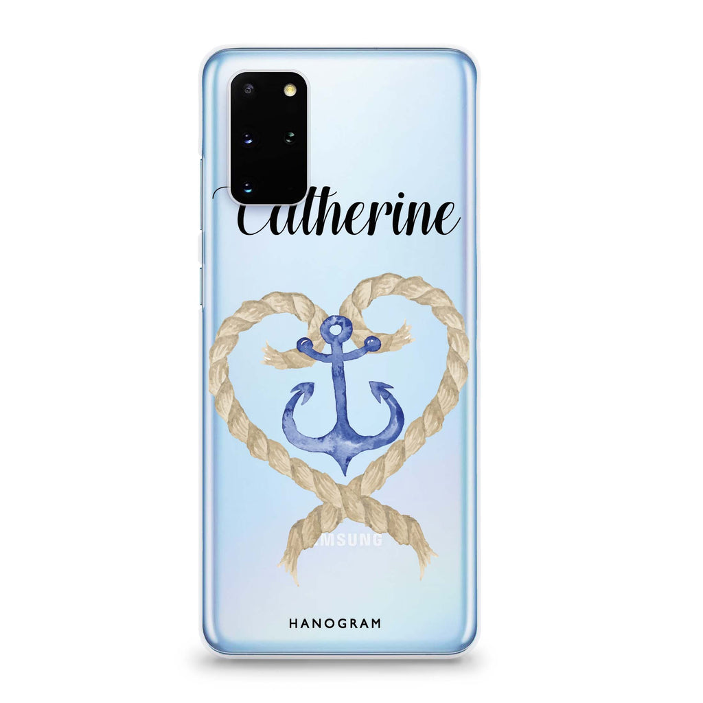 Heart & Anchor Samsung S20 Soft Clear Case