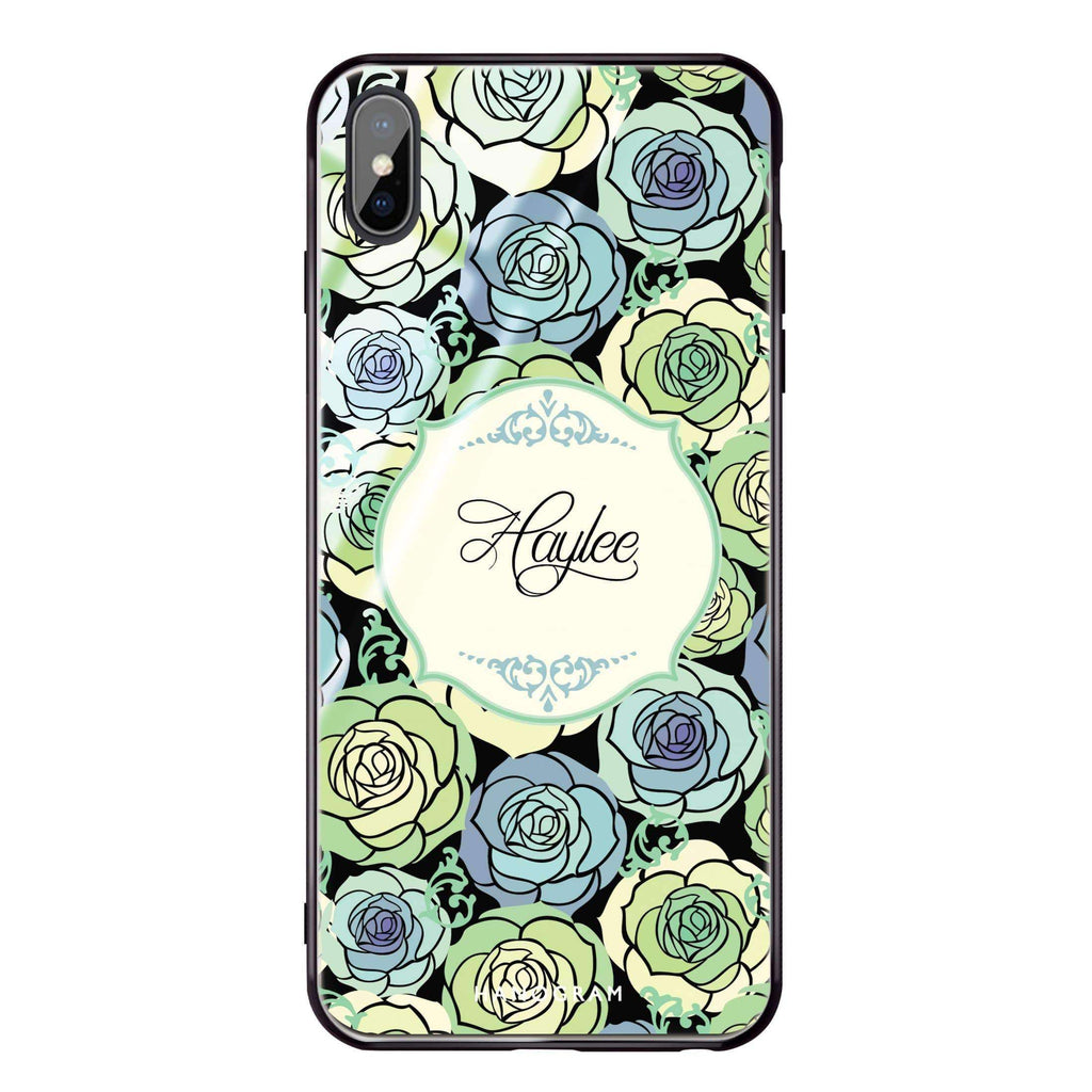 Art of Rose I iPhone XS Max Glass Case