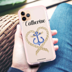 Heart & Anchor Frosted Bumper Case