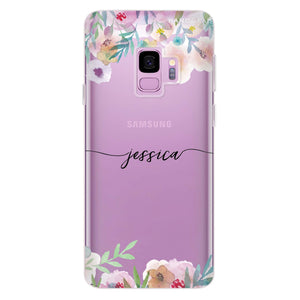 Art of Floral Samsung S9 Soft Clear Case