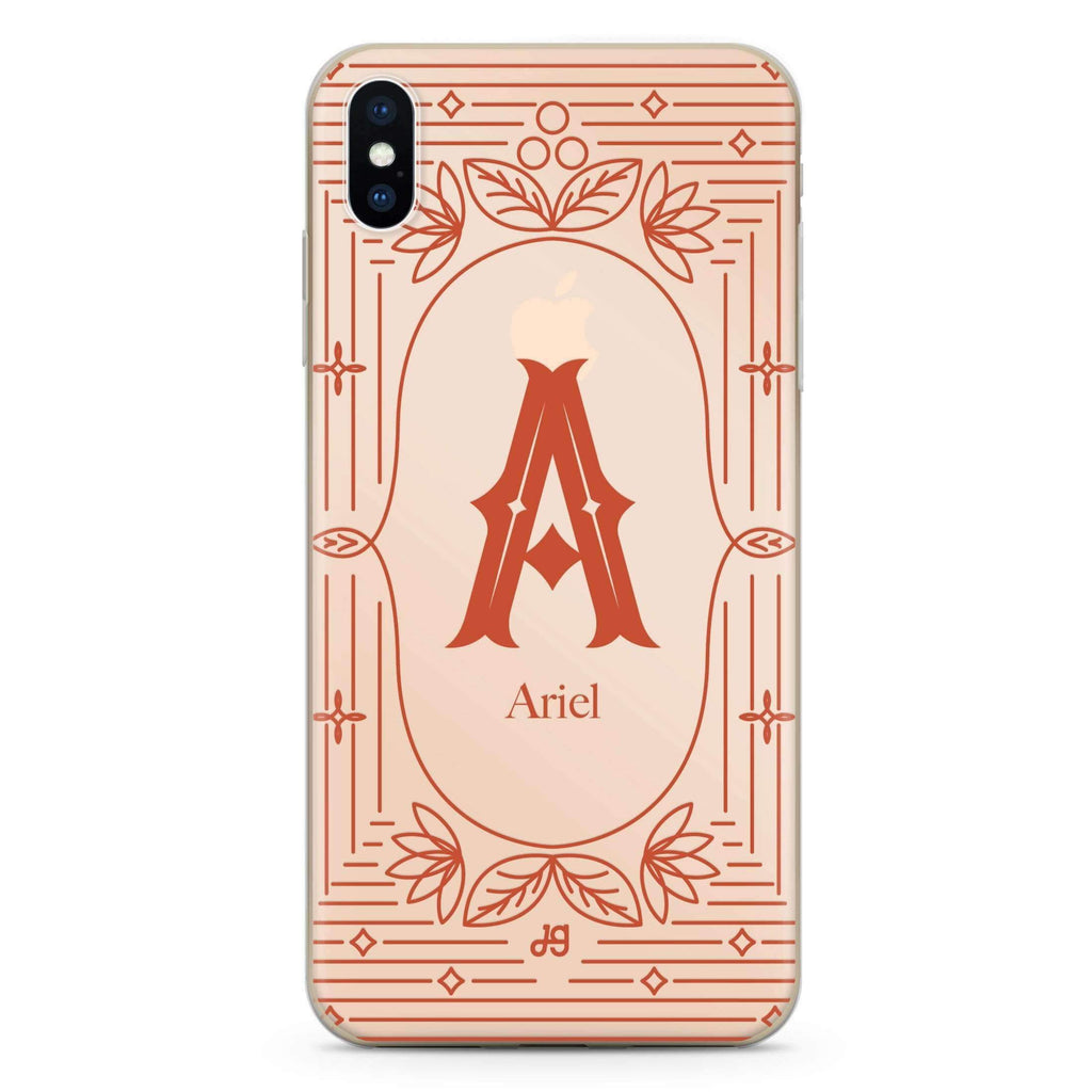 Artistic Monogram I iPhone XS Soft Clear Case