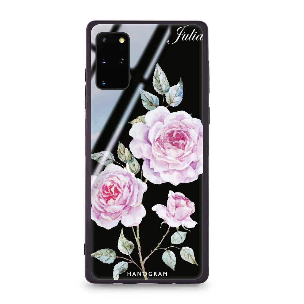 Simple Floral Samsung S20 Plus Glass Case