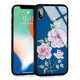 Simple Floral Princess Blue Glass Case