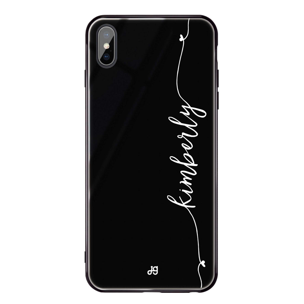 Heart Word iPhone XS Max Glass Case