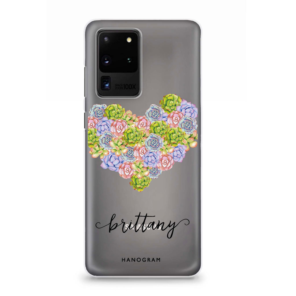 Floral Heart Samsung S20 Ultra Soft Clear Case