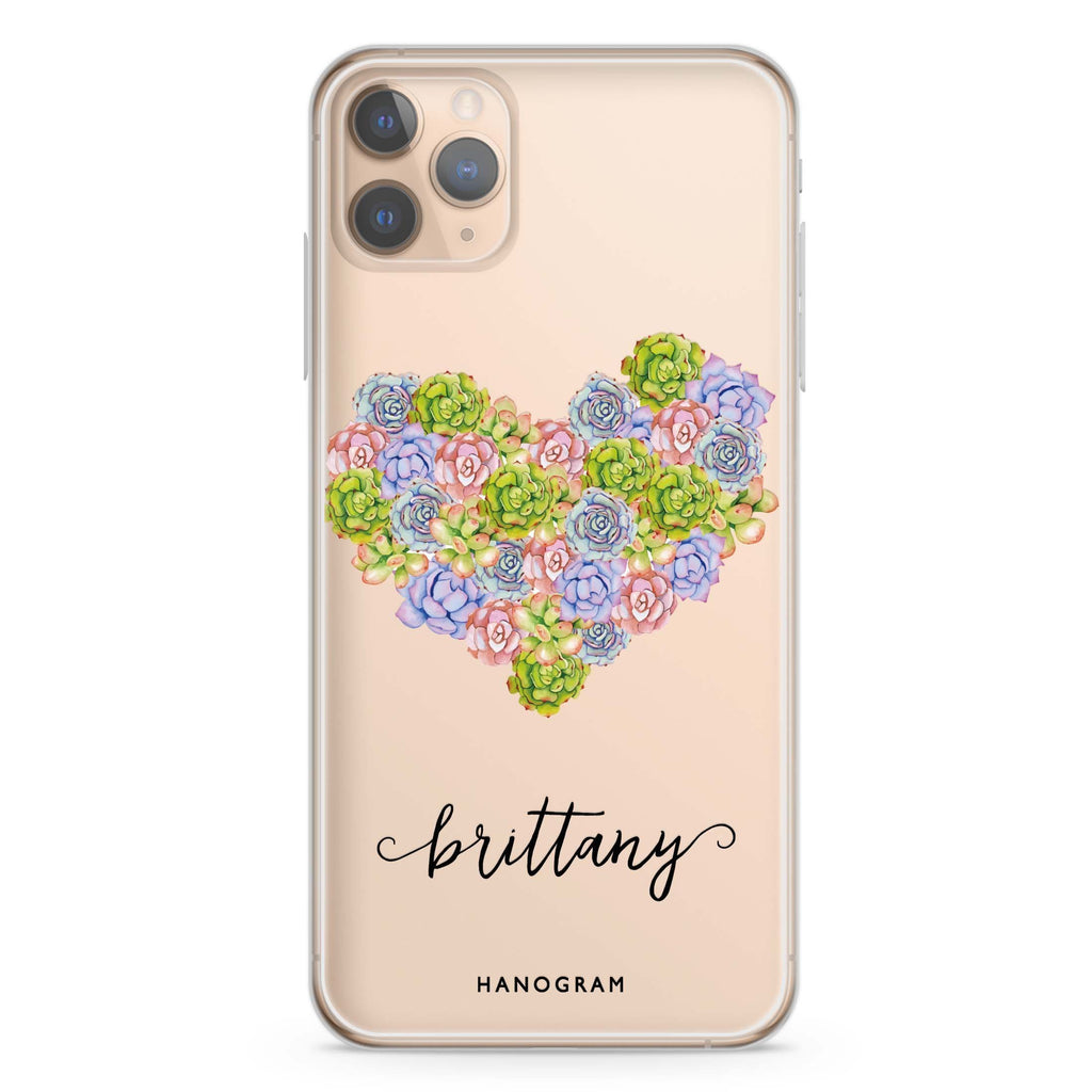 Floral Heart iPhone 11 Pro Max Soft Clear Case