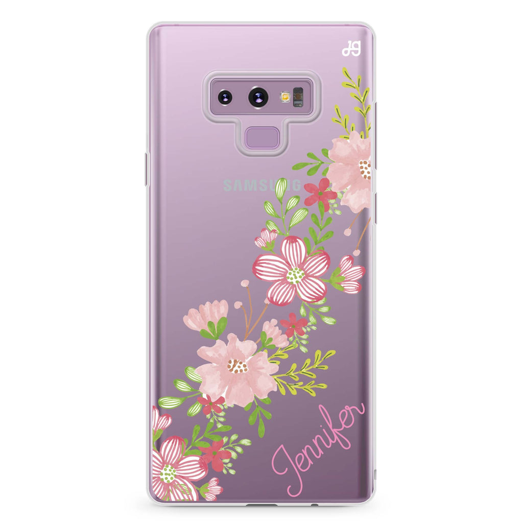 Floral Path Samsung Note 9 Soft Clear Case