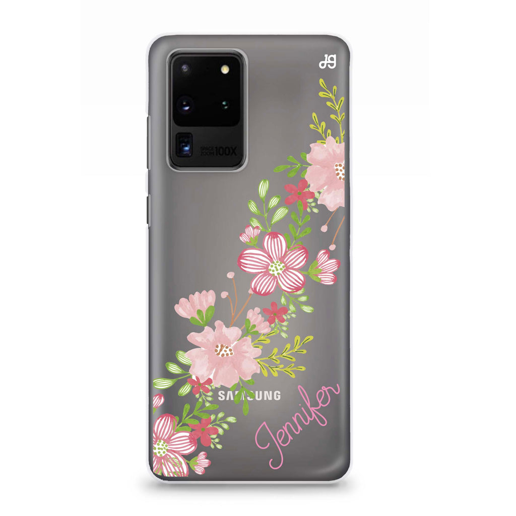 Floral Path Samsung S20 Ultra Soft Clear Case