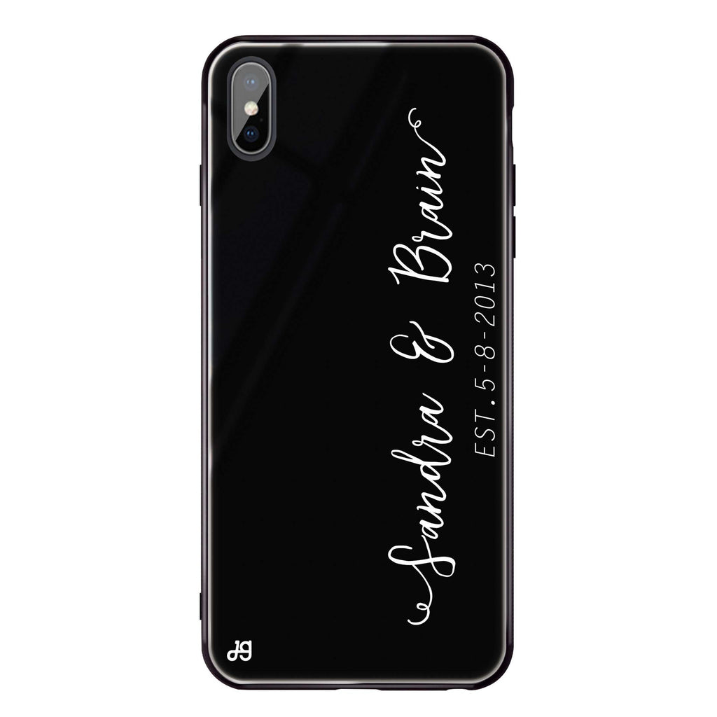 Memory iPhone XS Max Glass Case
