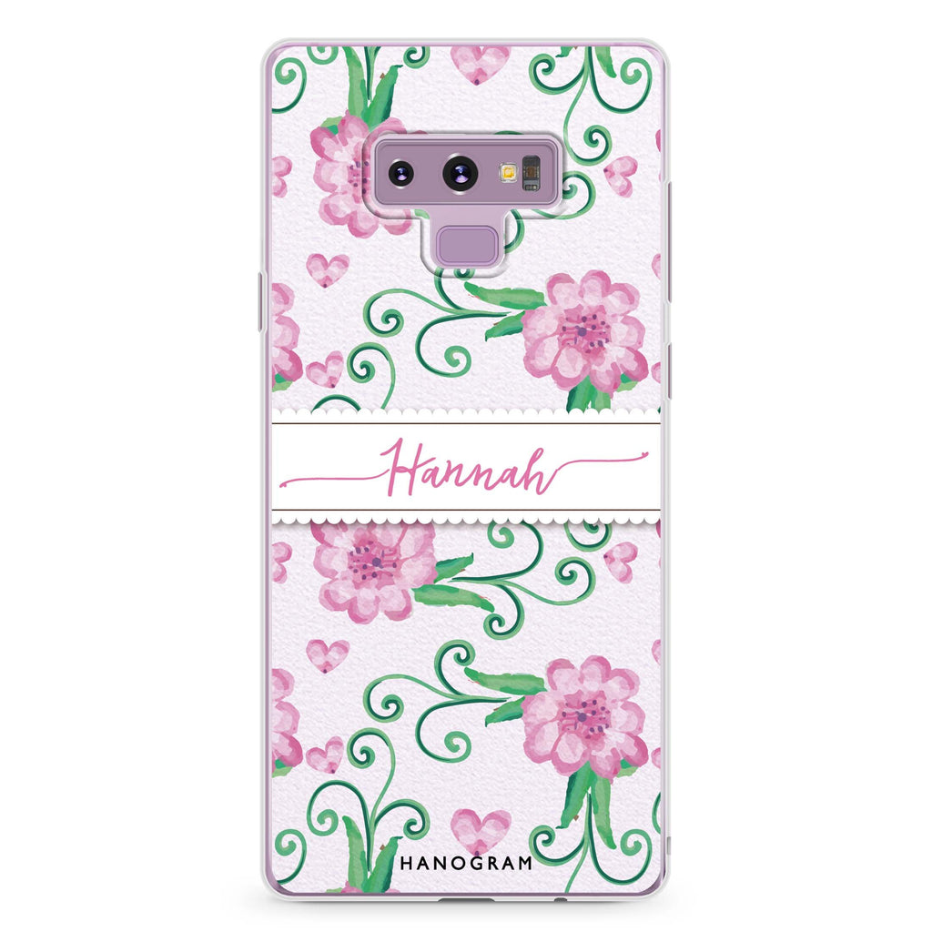 The Dancing Flower Samsung Note 9 Soft Clear Case