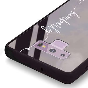 Heart Word Samsung Note 9 Glass Case