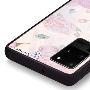 Pinky Flowers Samsung Glass Case
