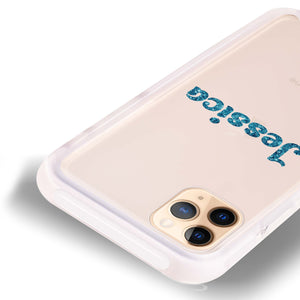 Glittering Blue Frosted Bumper Case